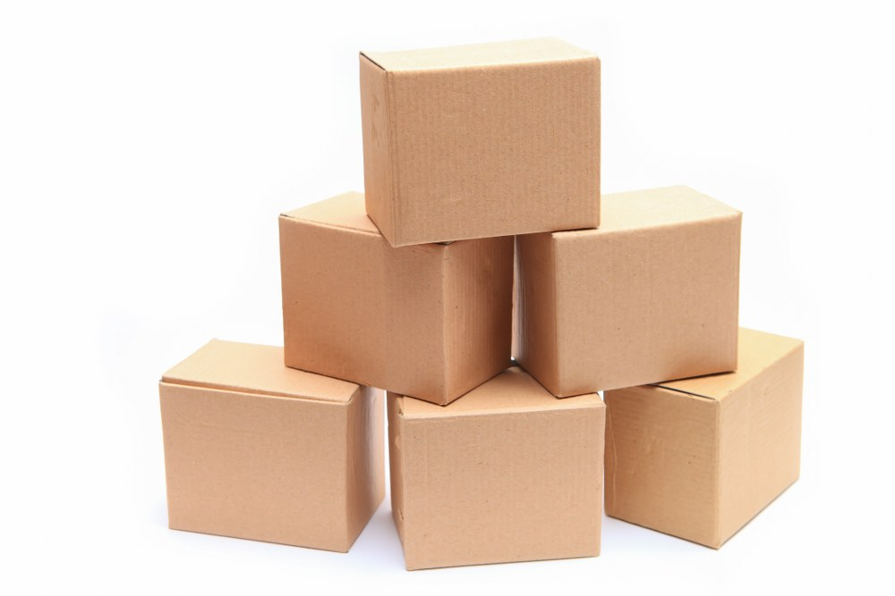 cardboard boxes